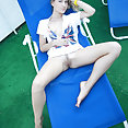 Petite ukranian babe with great tits showing pussy - image 2