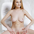 Nancy A bares her Lovely tits and pink pussy on the Seat - image 2